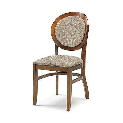 Cadeira Turim cor Castanho Assento e Encosto estofado tecido cor #43 - cód. 4.2.876