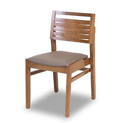 Cadeira Bangkok cor Castanho Encosto Em Madeira E Assento Estofado Fendi COD. 4.2.403