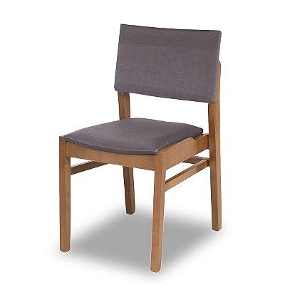 Cadeira Bangkok cor Castanho Assento e Encosto Estofado Mocaccino COD.4.2.920