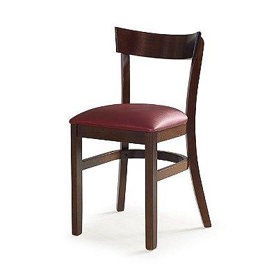 Cadeira Toledo / Cor Imbuia / Estofado Bordo 4.2.199