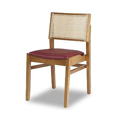 Cadeira Malta Encosto em Tela Natural / Cor Natural / Estofado Bordo 4.2.199