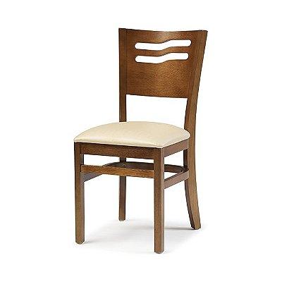 Cadeira Eros / Cor Castanho / Estofado Champagne 4.2.151