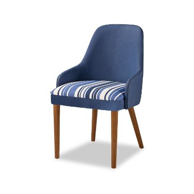 Cadeira Bontá Cor Castanho Estofado Composé Listras