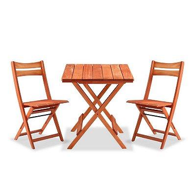 Conjunto Mesa Ibiza com Cadeiras Bali Dobráveis