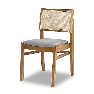 Cadeira Bangkok Assento Estofado Encosto Com Tela Sintética