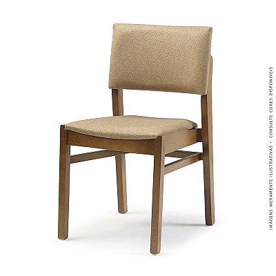 Cadeira Bangkok em Madeira maciça Assento e Encosto Estofado