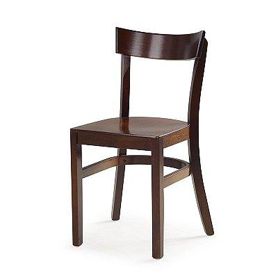 Cadeira Barcelona em Madeira maciça Assento Laminado Em Madeira