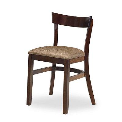 Cadeira Barcelona em Madeira maciça Assento Estofado