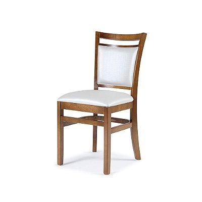Cadeira Montreal em Madeira maciça Assento e encosto Estofado