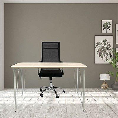 Mesa e Cadeira tela alta Para Home Office