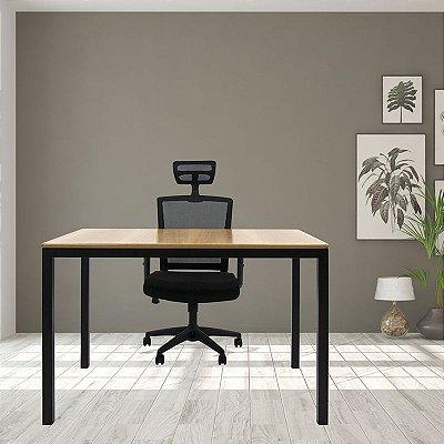 Mesa Solin e Cadeira New Ergon com encosto de cabeça Para Home Office