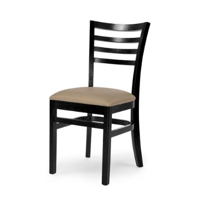 Cadeira Luanda em madeira Cor Ébano Assento Estofado Corano Cor Manteiga 4.2.5