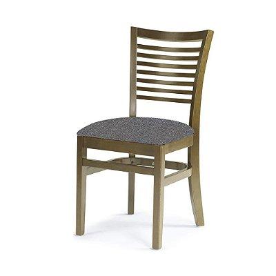 Cadeira Chicago Carvalho Assento Estofado