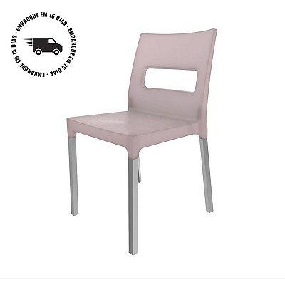 Cadeira VEZO pés de alumínio PRATA FOSCO.