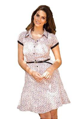 Vestido Chemisier Recorte Lateral | Joyaly | Moda Evangélica
