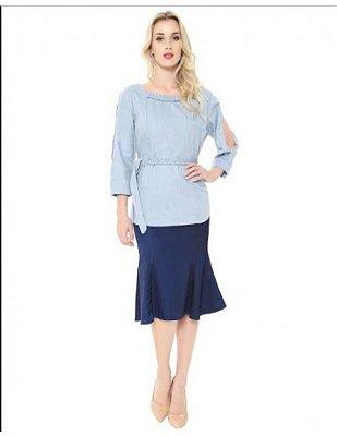 Saia Skirt Midi Modal | Joyaly | Moda Evangélica