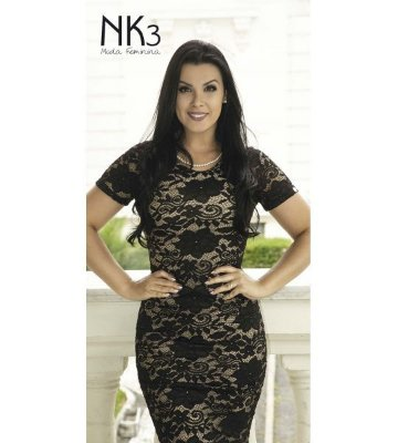 Vestido Tubinho de Renda - 5909 - NK3