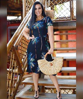 Vestido Plissado - 5879 - NK3