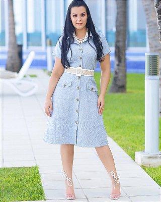 Vestido Linho com botão - 5836 - NK3