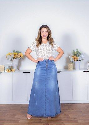 Saia Longa Jeans Power - 11371 - Joyaly