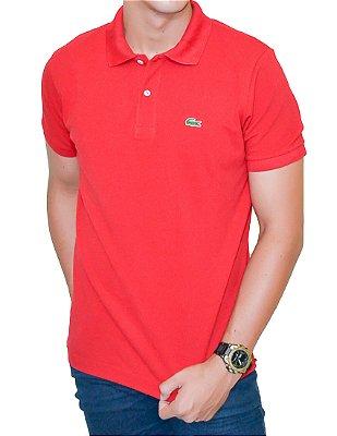 Camisa Gola Polo L a c o s t e Vermelha