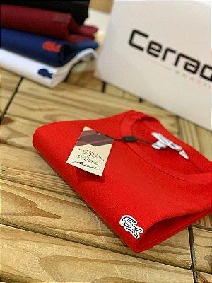 Camiseta T-Shirt L-18 Vermelha Logo Branco