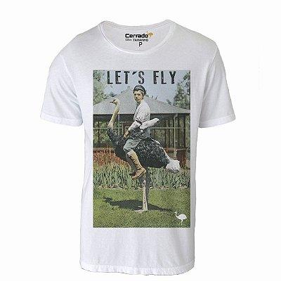 Camiseta Gola Básica Cerrado Brasil - Let's Fly