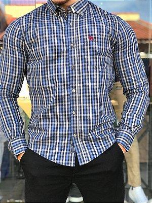Camisa Xadrez Azul e Cinza Aber-01