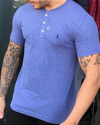 Henley RL Monocromática Azul