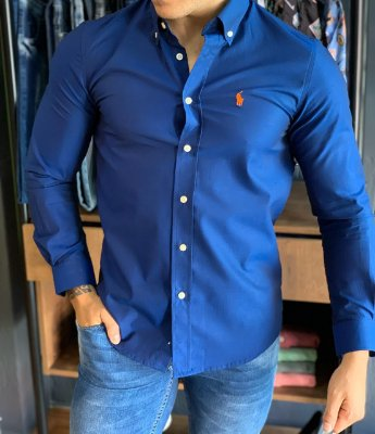 Camisa RL Azul e Laranja