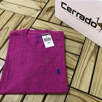 Camiseta Básica RL Rosa com Azul