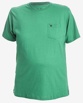 Camiseta Lisa com Bolso Verde
