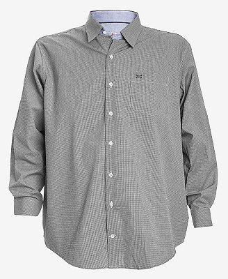 Camisa Manga Longa Xadrez Preto