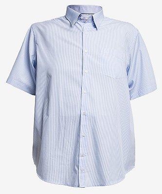 Camisa 3828 Listrada Azul Claro