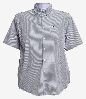 Camisa 3828 Listrada Marinho Manga Curta