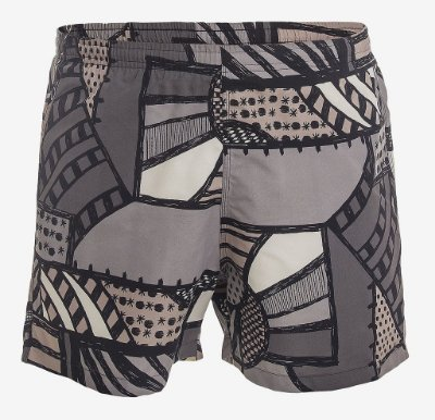 SHORTS ESTAMPADO COM SUNGA - GRAFITE