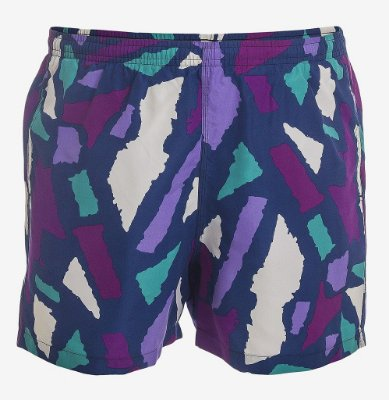 SHORTS ESTAMPADO COM SUNGA - ROXO