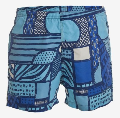 SHORTS ESTAMPADO COM SUNGA - AZUL
