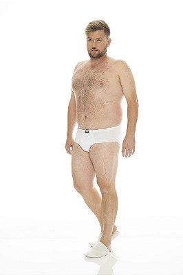 Cueca Plus Size Modelo Slip - Kit com 3 Peças