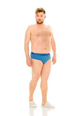 Cueca Plus Size Slip com Elástico Personalizado - Kit com 3 Peças