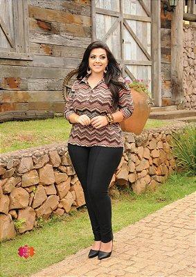 Calça Feminina Plus Size Montaria com Recorte