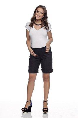 Bermuda Gestante Jeans com Elastano