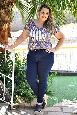 Calça Feminina Plus Size Jeans Super Skinny
