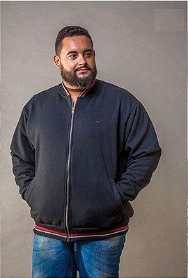 Blusa de Moletom Masculino Plus Size Modelo College