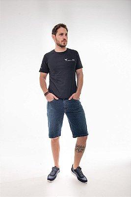 Bermuda Masculina Plus Size Jeans Estonado com Elastano