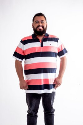 Camiseta Polo Masculino Plus Size