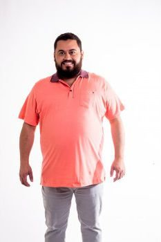 Camiseta Masculino Plus Size Polo Lisa