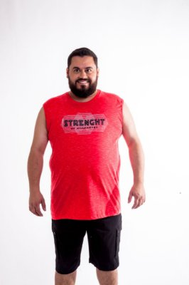 Regata Masculino Plus Size Machão