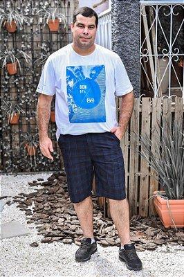 Bermuda Masculina Plus Size Xadrez - Diversas Cores