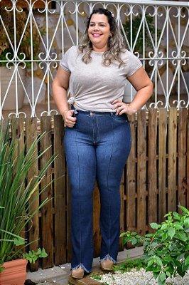 Calça Feminina Plus Size Flare Jeans